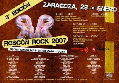 ROSCON ROCK 2007: Compartiremos Manta con Crisalida!!